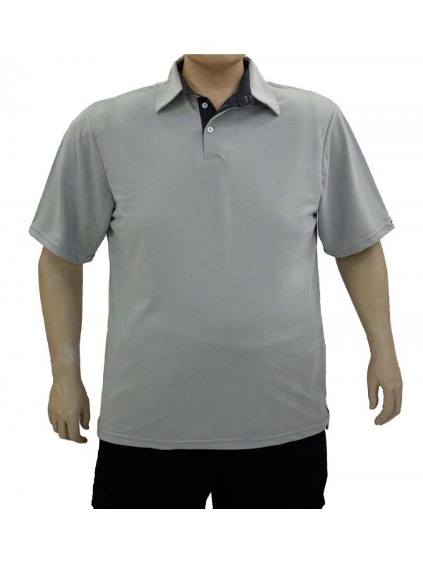 Camiseta Polo Plus Size Prata