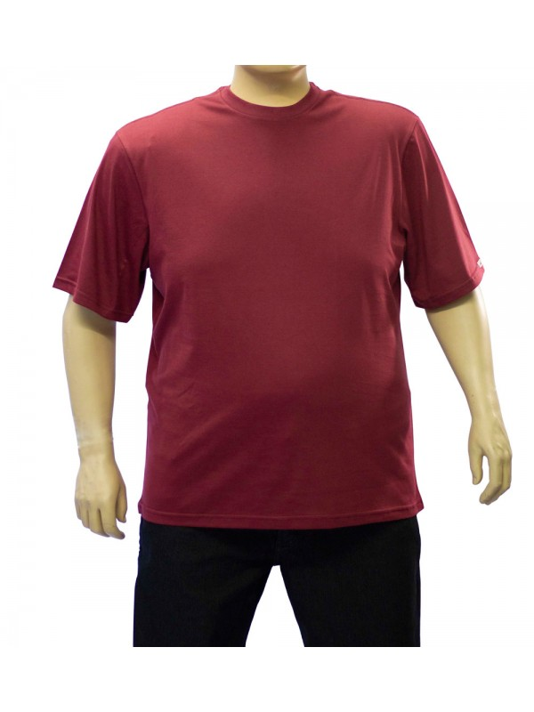 Camiseta Básica Plus Size Bordo