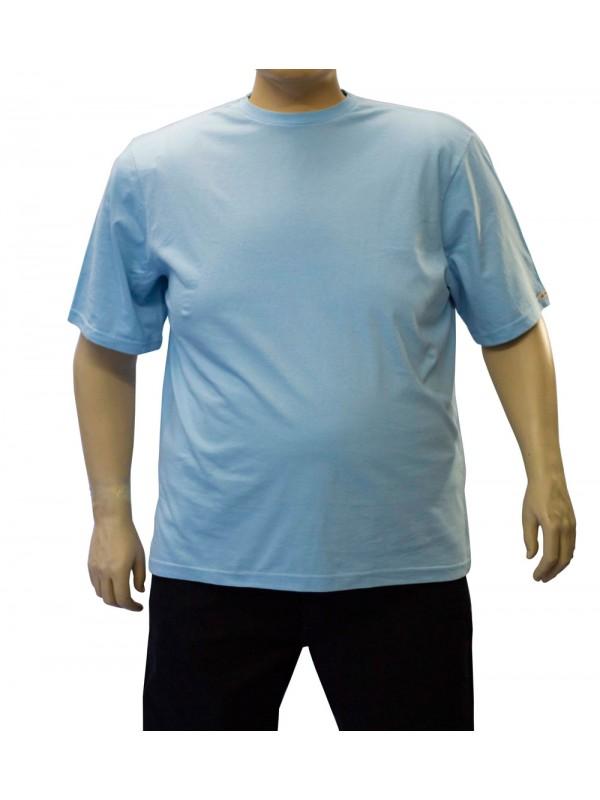Camiseta Básica Plus Size Celeste