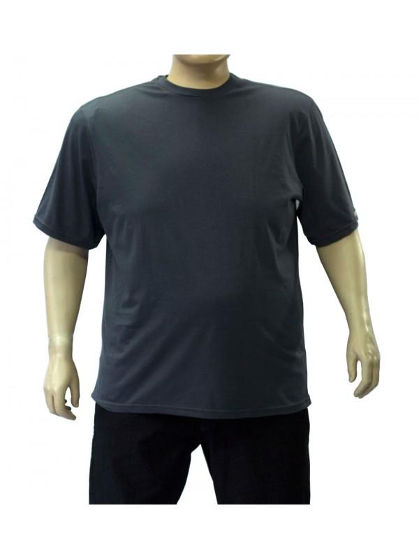 Camiseta Básica Plus Size Chumbo