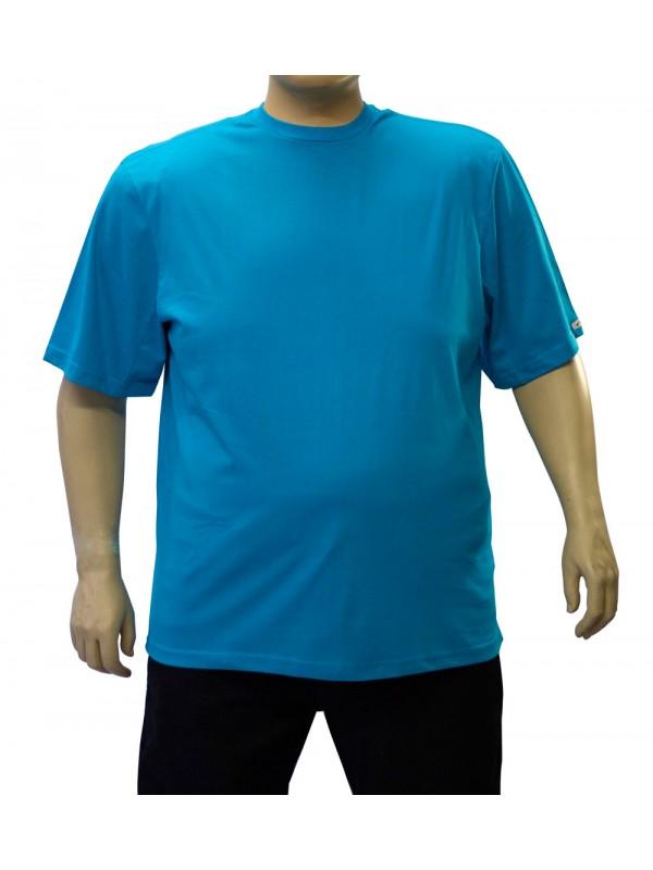 Camiseta Básica Plus Size Turquesa