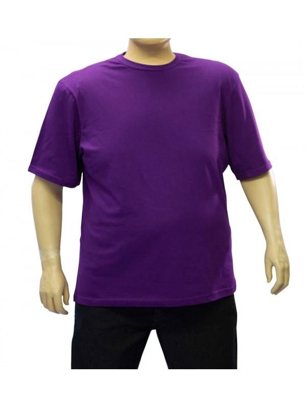 Camiseta Básica Plus Size Violeta