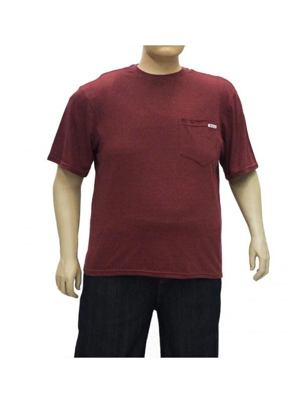 Camiseta Plus Size Mesclada Bordo