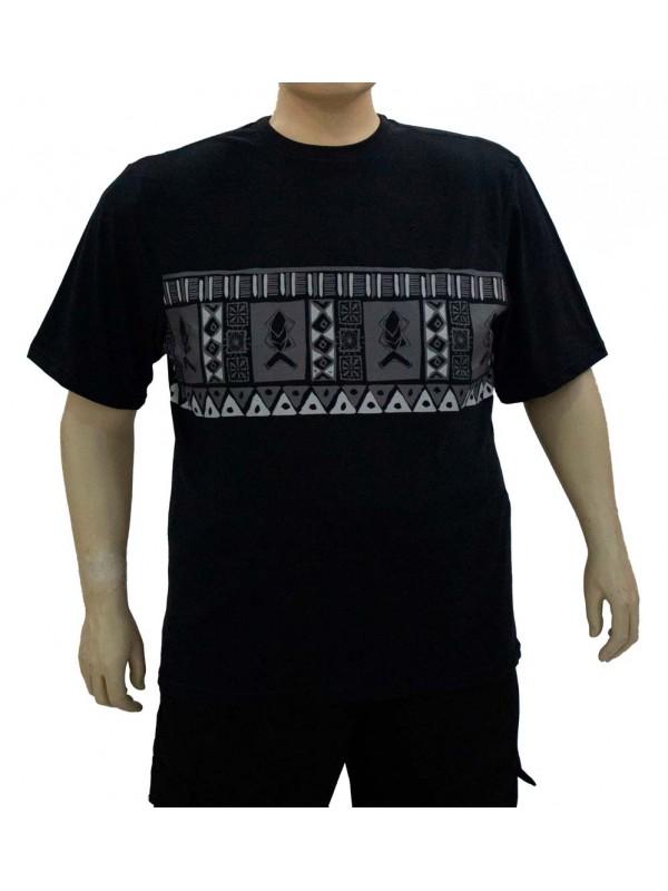 Camiseta Plus Size Tribal Preta