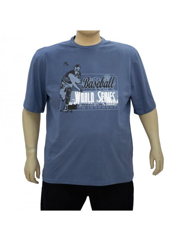 Camiseta Estampada Plus Size Baseball Jeans