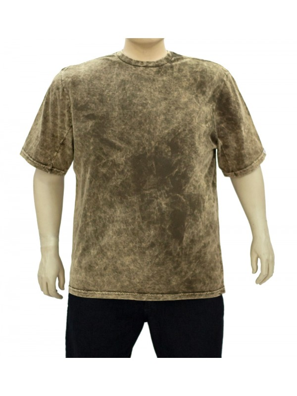 Camiseta Marmorizada Plus Size Marrom
