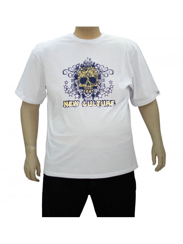 Camiseta Estampada Plus Size New Culture Branca