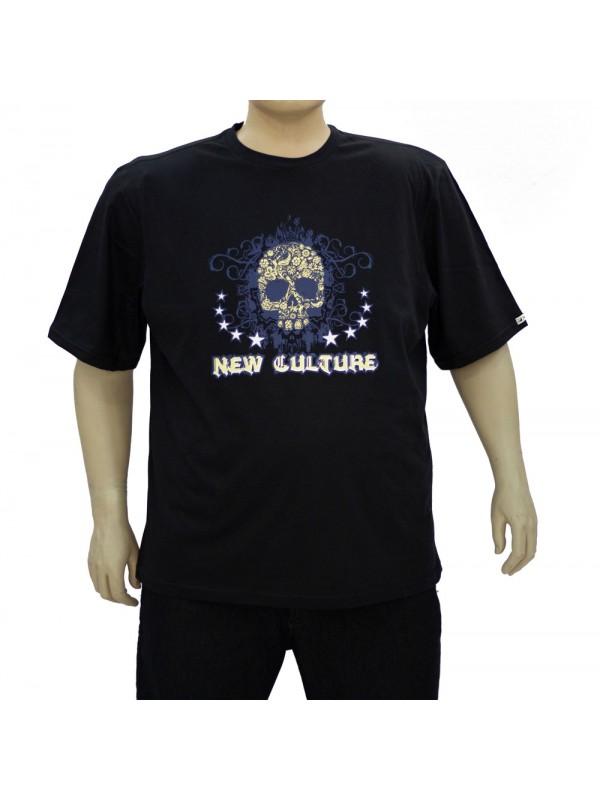 Camiseta Estampada Plus Size New Culture Preta