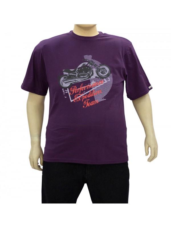 Camiseta Estampada Plus Size Performance cor Berinjela