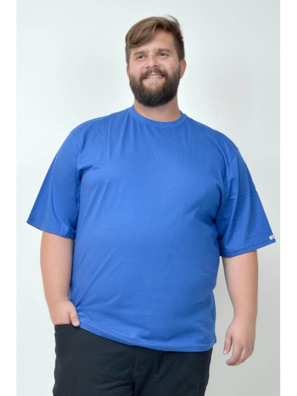 Camiseta Básica Plus Size Royal