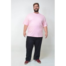 Camiseta Básica Plus Size Chiclete