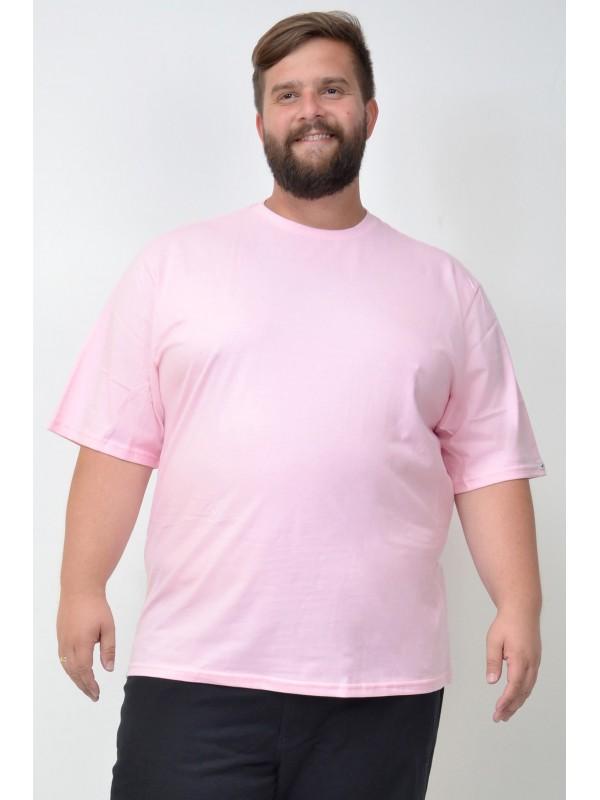 Camiseta Básica Plus Size Rosa
