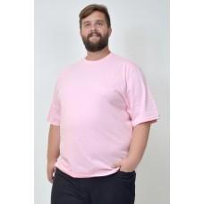 Camiseta Básica Plus Size Chiclete