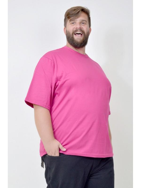 Camiseta Básica Plus Size Pink