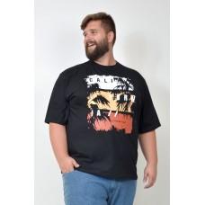 Camiseta Plus Size California Preta