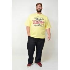 Camiseta Plus Size Los Angeles Amarela