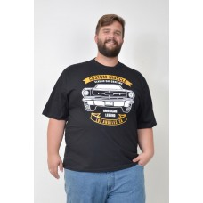 Camiseta Plus Size Classic Cars Preta