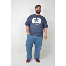 Camiseta Plus Size Summer Marinho