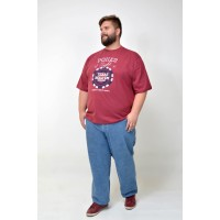 Camiseta Plus Size Poker Bordo