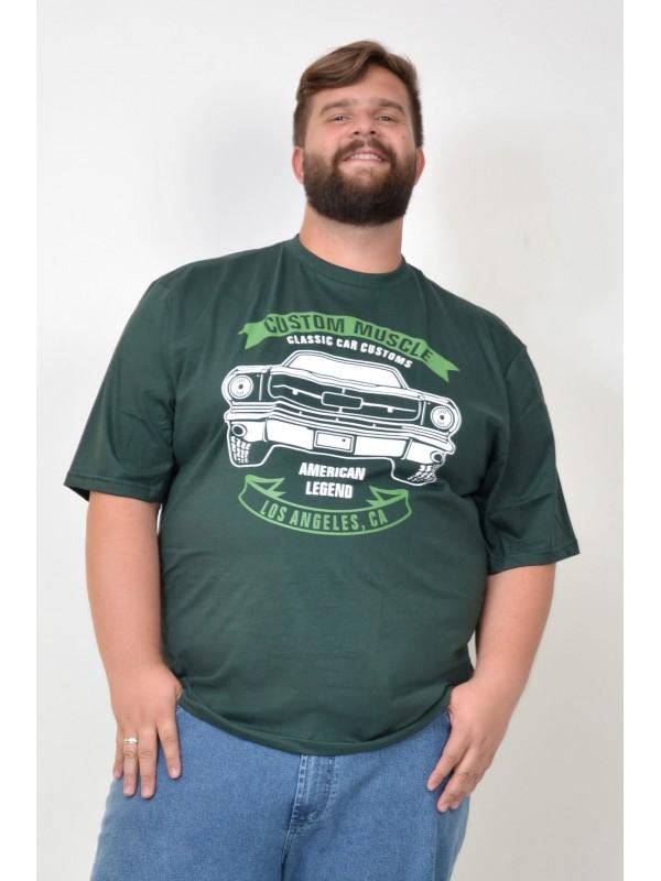 Camiseta Plus Size Classic Cars Militar