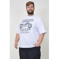 Camiseta Plus Size Ride Like Branca