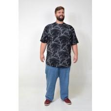 Camiseta Plus Size LongLine Raio Preta