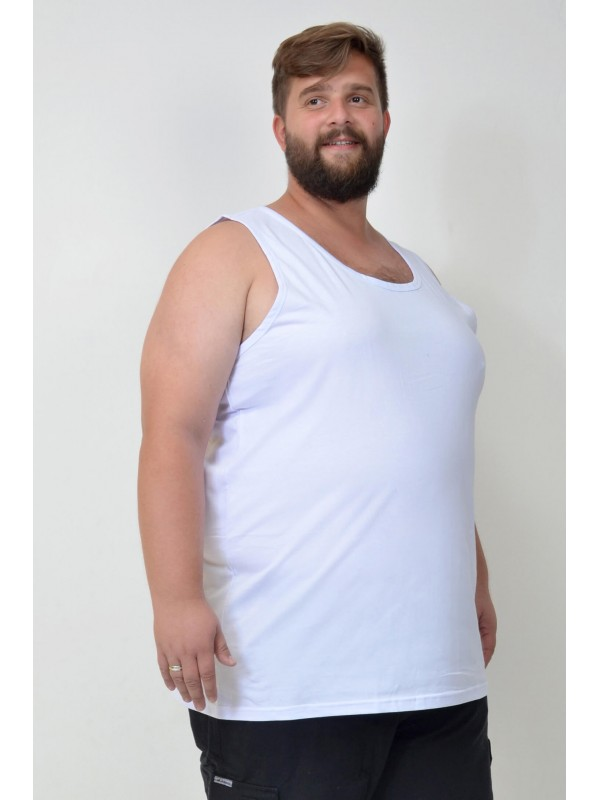 Regata Básica Plus Size Branca