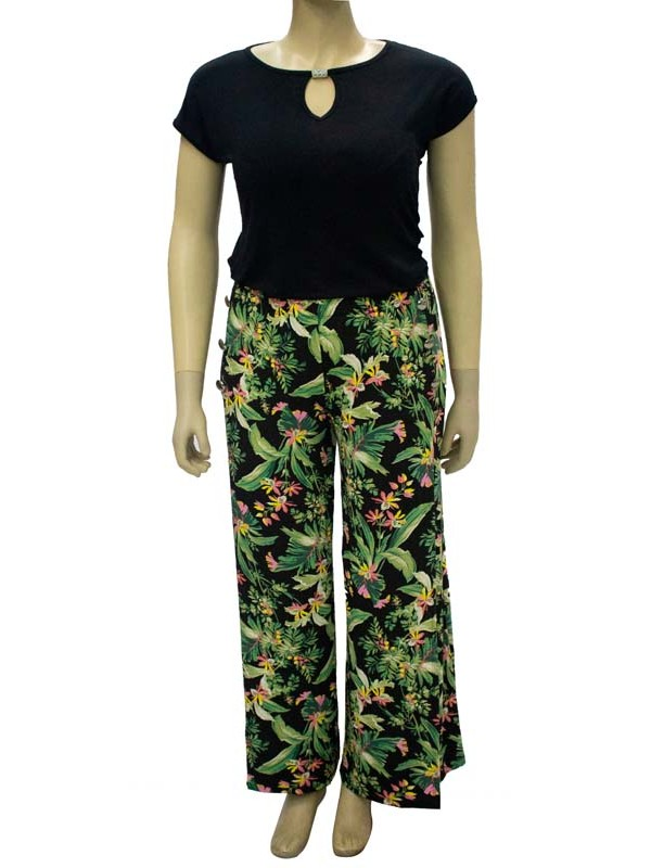Blusa Plus Size Detalhe Canutilho Brilho Preta