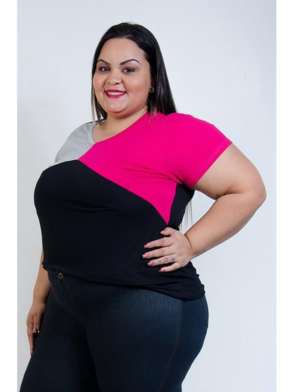 Blusa de 3 cores Pink