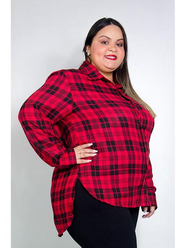 Camisa Mulet Flanela Xadrez Vermelho