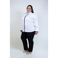 Camisete Branco com Detalhe em Renda Preta