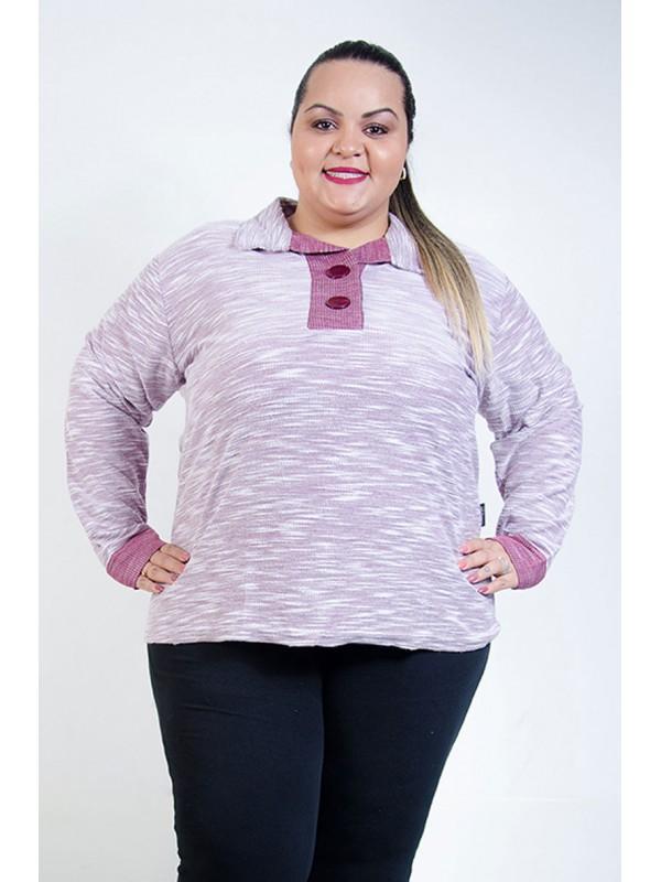 Blusão Moletinho Plus Size Bordô