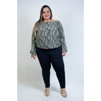 Ciganinha Animal Print Musgo