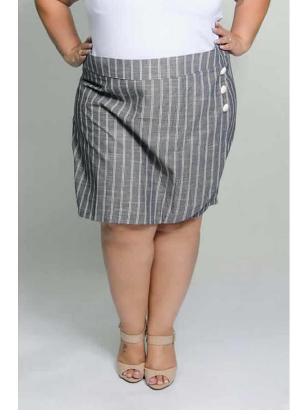 Shorts Saia Linho Preto