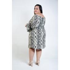 Vestido Ciganinha Estampado Marfim