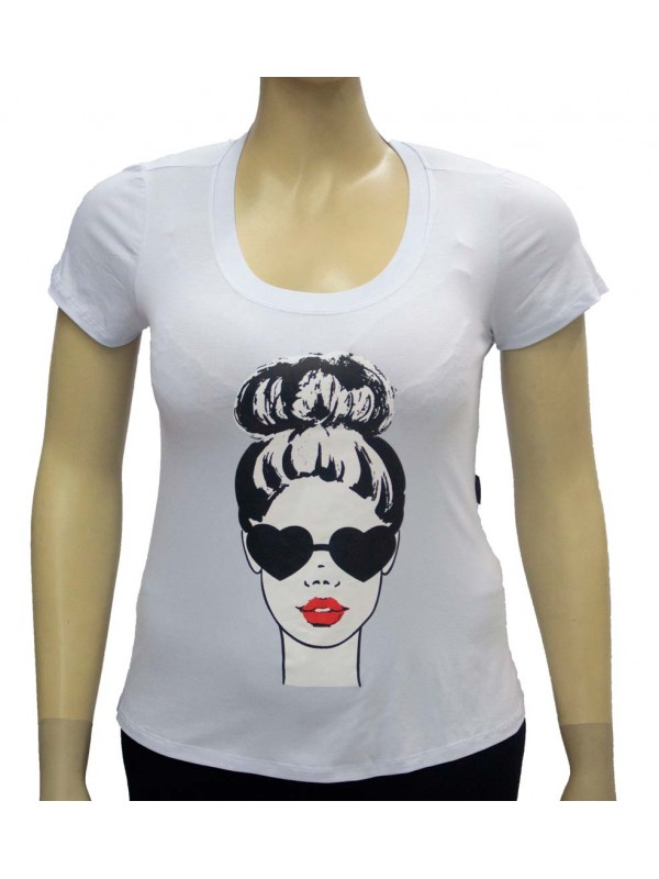 Blusa Plus Size Carol Branca