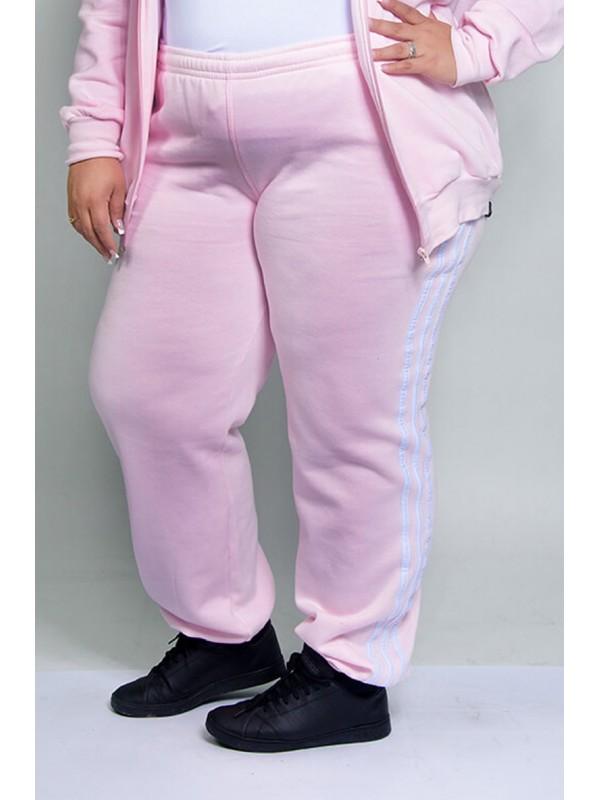 Calça Moleton Feminina Rosa