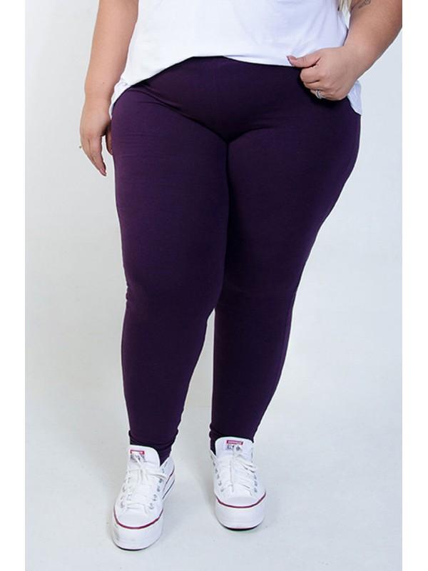Calça Legging Plus Size Beringela