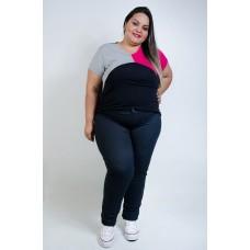 Calça Legging Modelo Jeans Plus Size